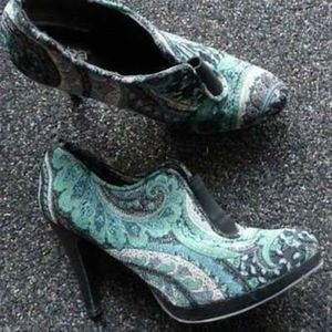 Diba Paisley Tapestry Ankle Booties